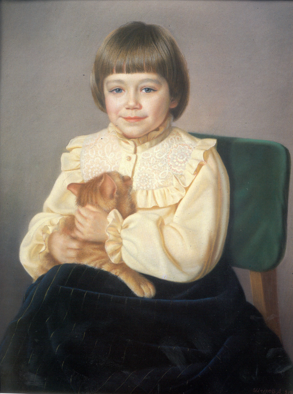 Александр Максович Шилов. Виолетта с кошкой