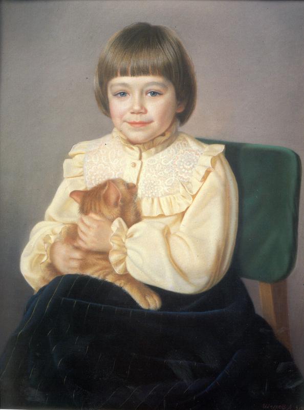 Виолетта с кошкой