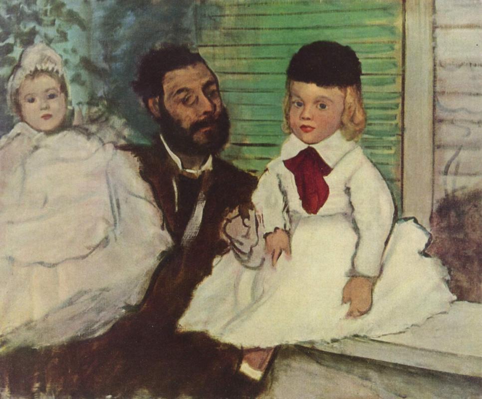 Эдгар Дега. Портрет графа Лепика и его трёх дочерей