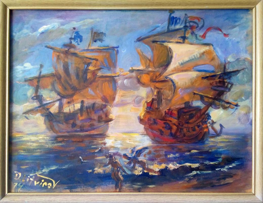 Daniil Litvinov. Корабли против солнца