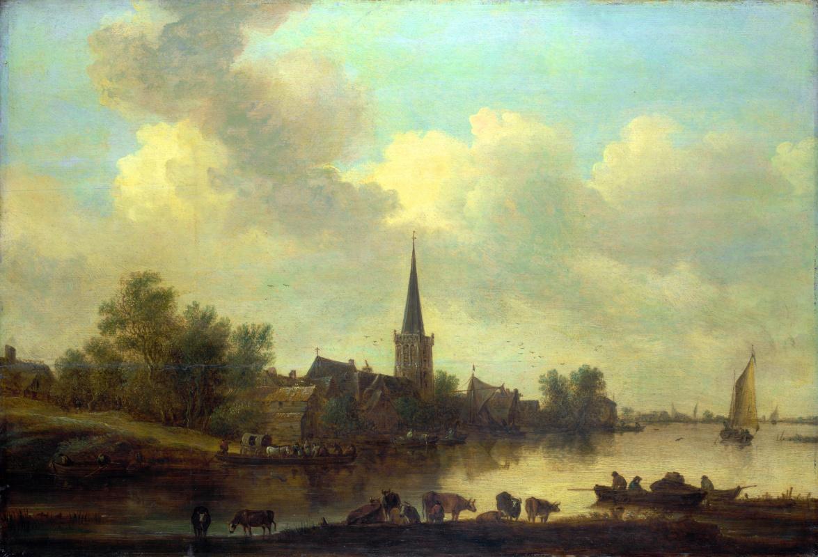 Ян ван Гойен. Речной пейзаж