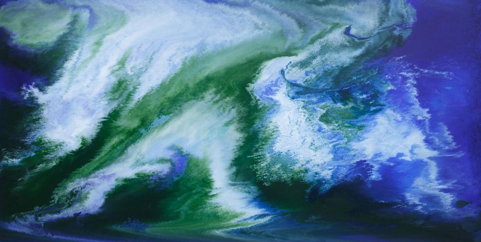 "Alla Struchayeva. The painting ""Space Comet"""