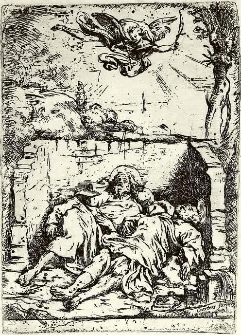 Клод Виньон. Апостолы Петр и Павел в гробнице