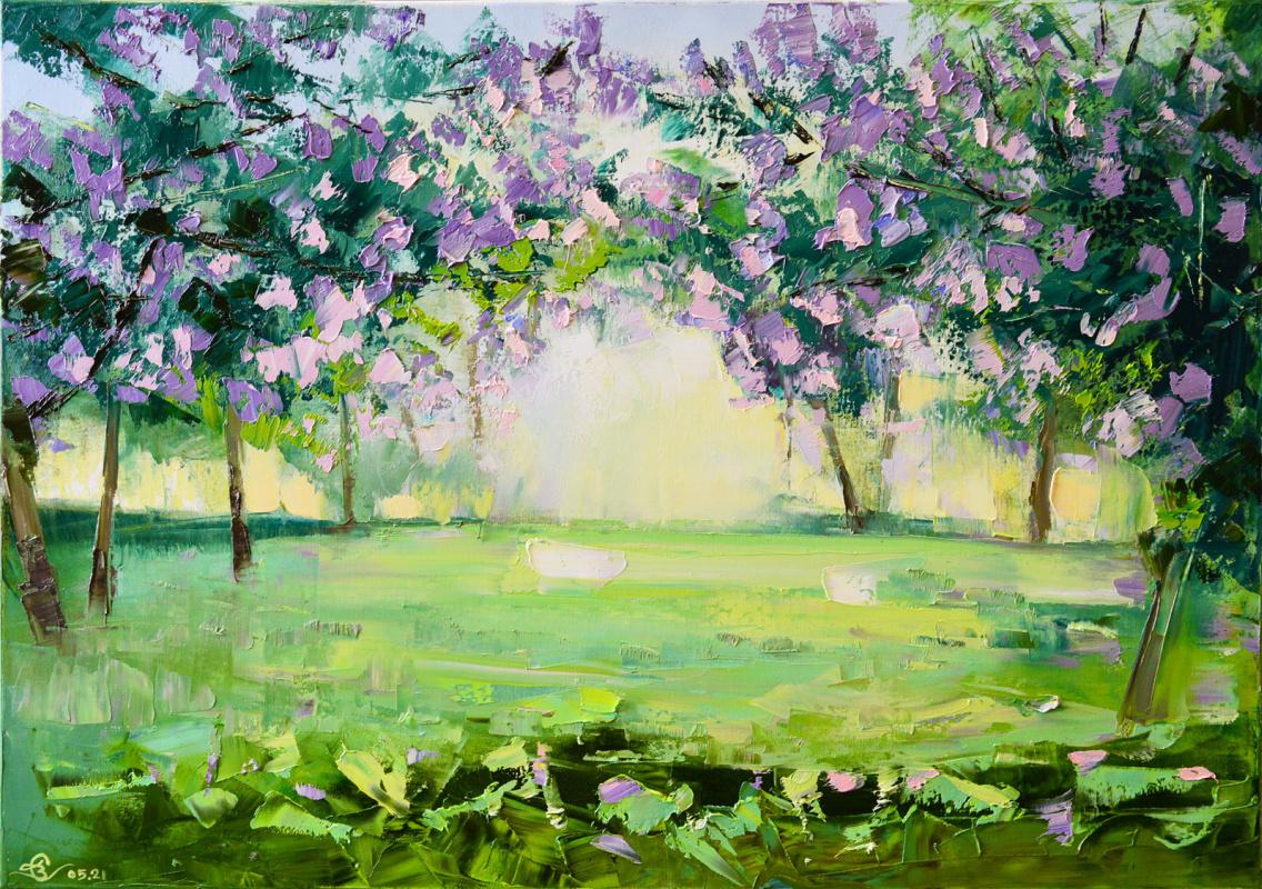 Vadim Anatolyevich Stolyarov. Lilac park after rain