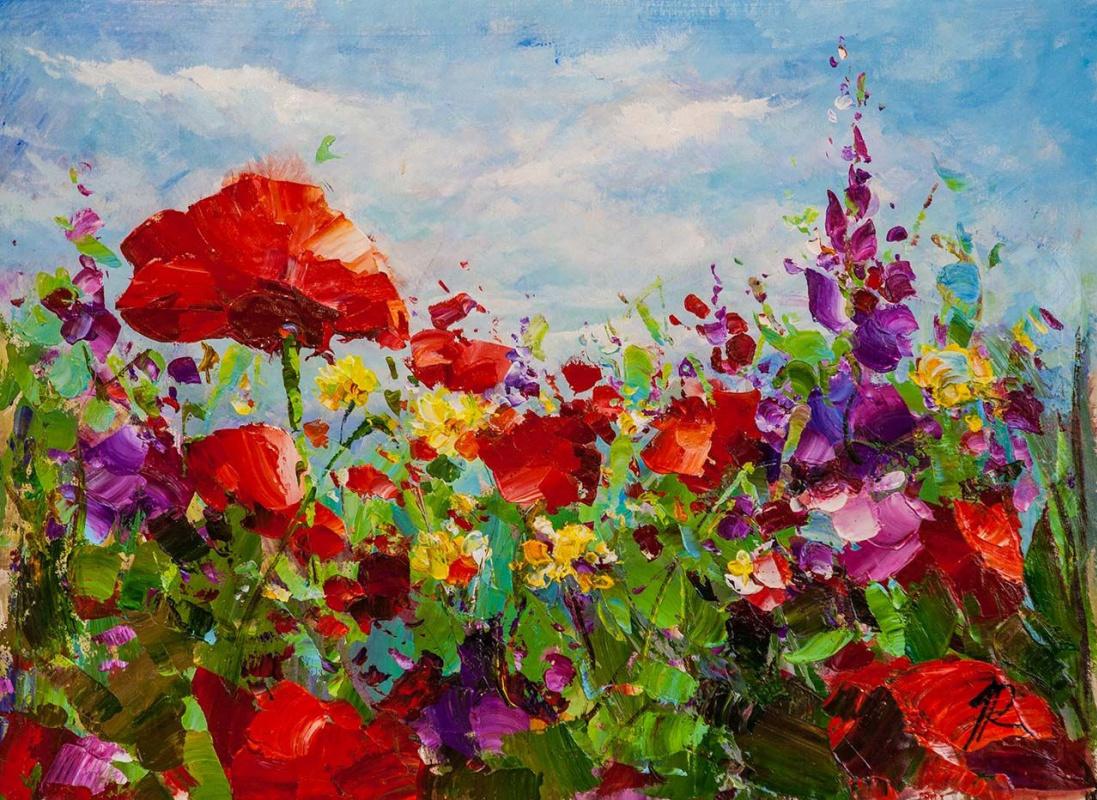 Jose Rodriguez. Poppy field. Hot Summer