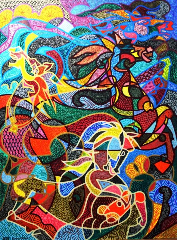Yosef Reznikov. Composition  of a Horse--