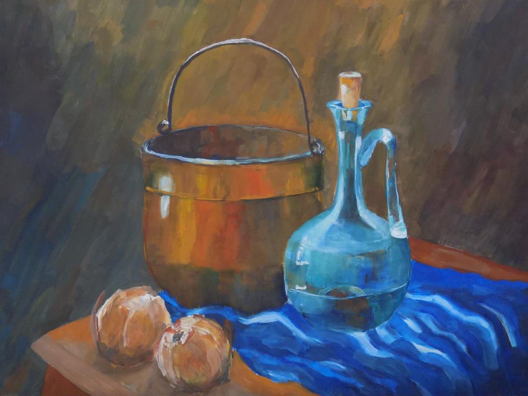 Vasilisa Nikonorova. Still life with onions