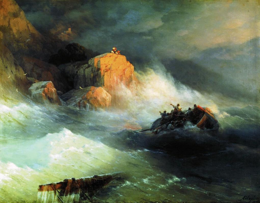 Ivan Constantinovich Aivazovski. Shipwreck