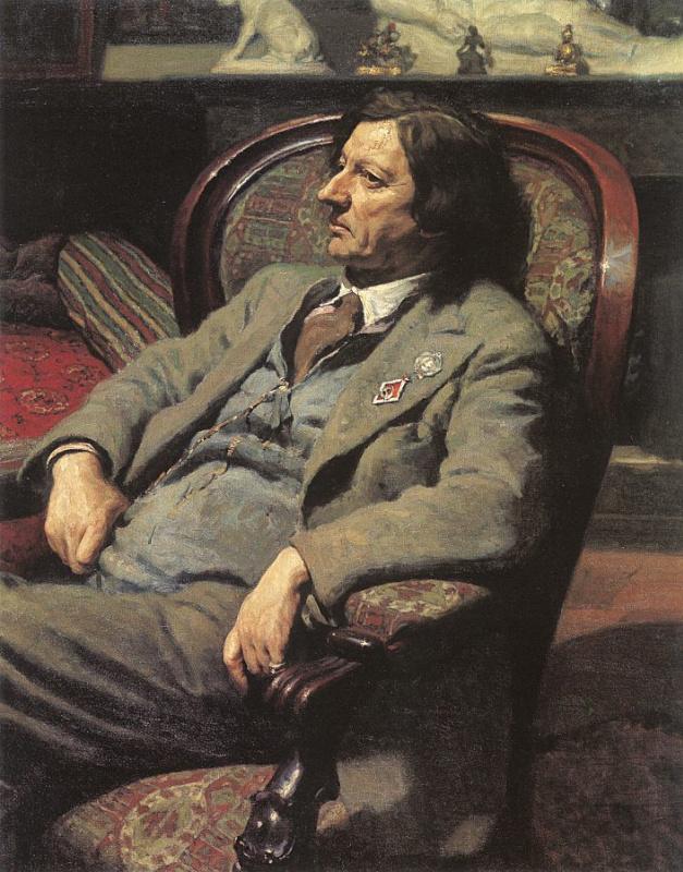 Александр Иванович Лактионов. Портрет мужчины в кресле