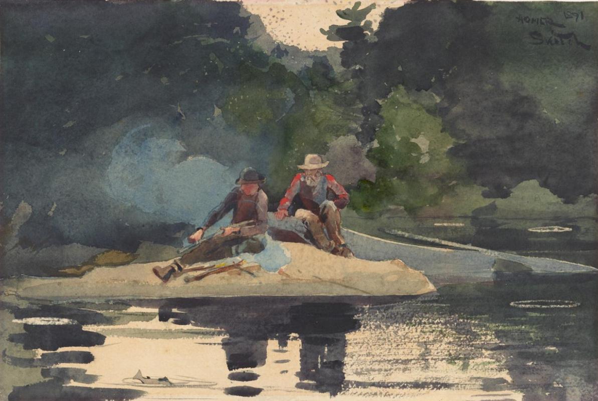 Winslow Homer. Before campfire