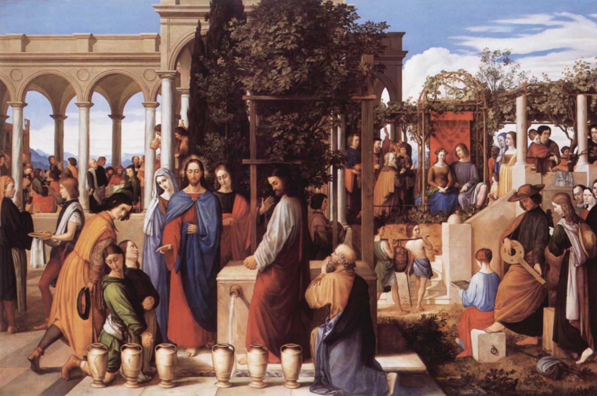 Julius Schnorr von Karolsfeld. The wedding in Cana of Galilee