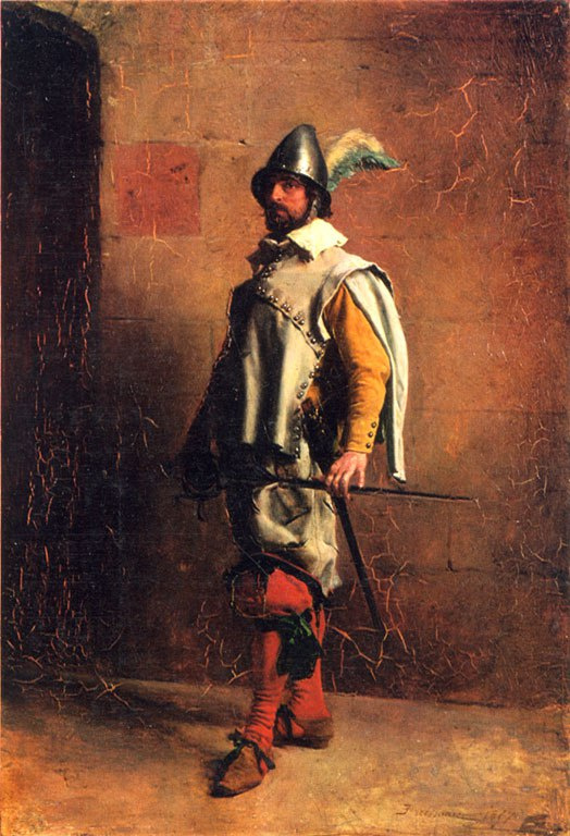 Jean Louis Ernest Meissonier. Warrior.
