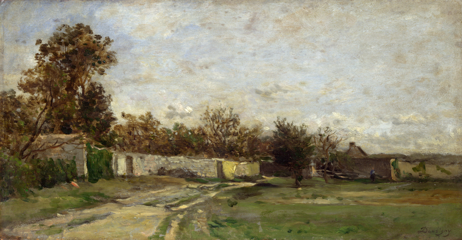 Шарль-Франсуа Добиньи. Стены сада