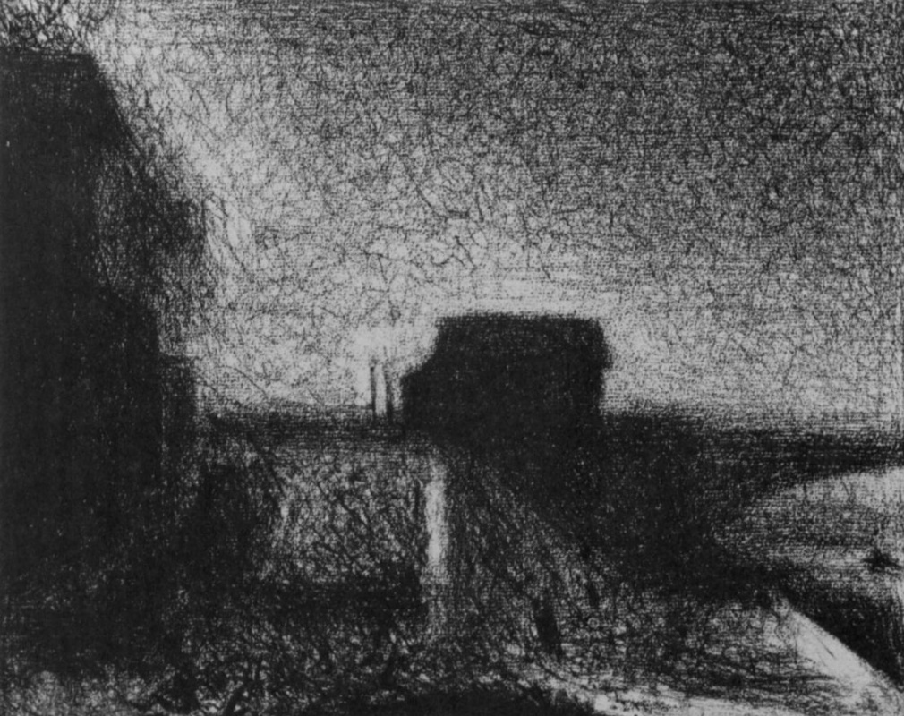 Georges Seurat. Support the bridge at Courbevoie