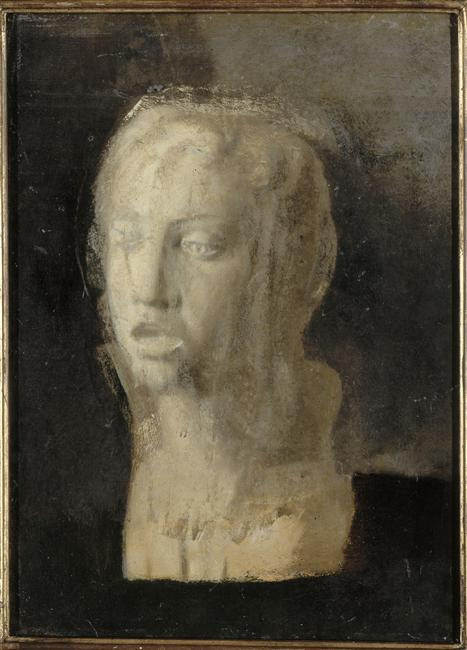A head study of a young singer