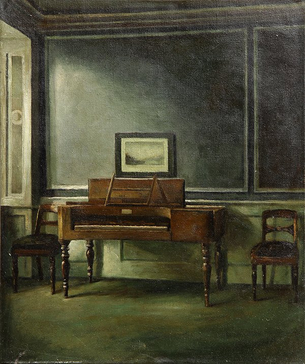 Вильгельм Хаммерсхёй. Интерьер. Старое фортепиано. Страндгед, 30