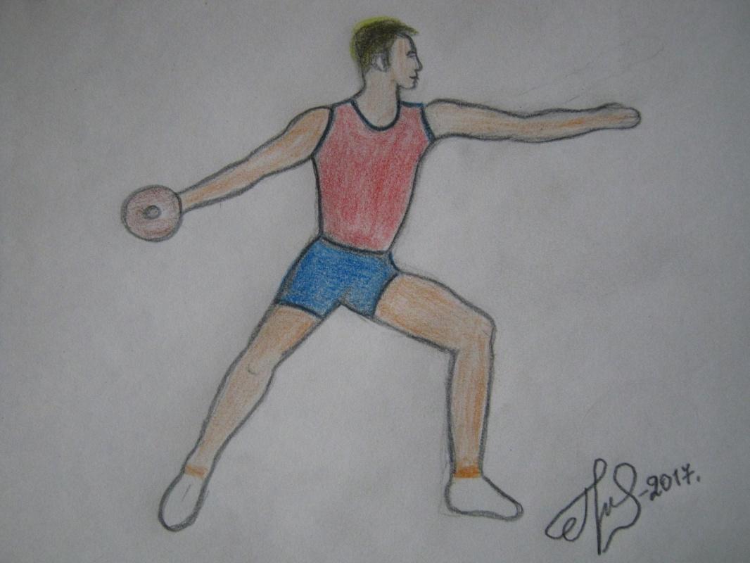 """Alexey Grishankov (Alegri). """"Discus thrower"""""""