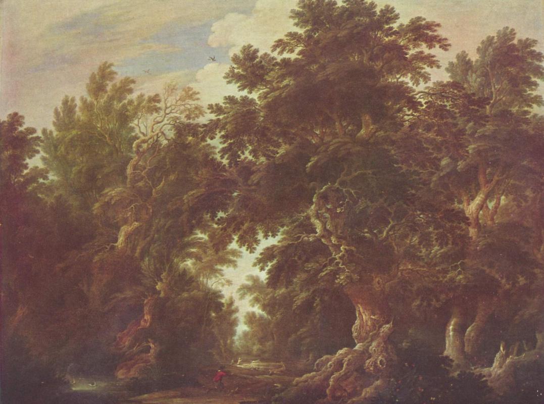 Alexander Keirincx. Landscape with deer hunt
