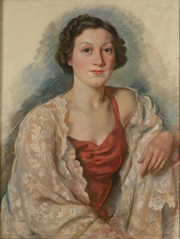 Зинаида Евгеньевна Серебрякова. Портрет молодой женщины