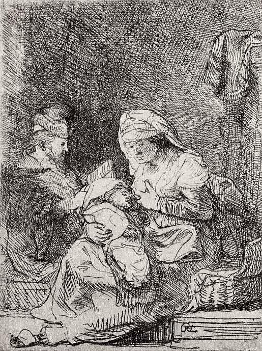 Рембрандт Ван Рейн. Святое семейство