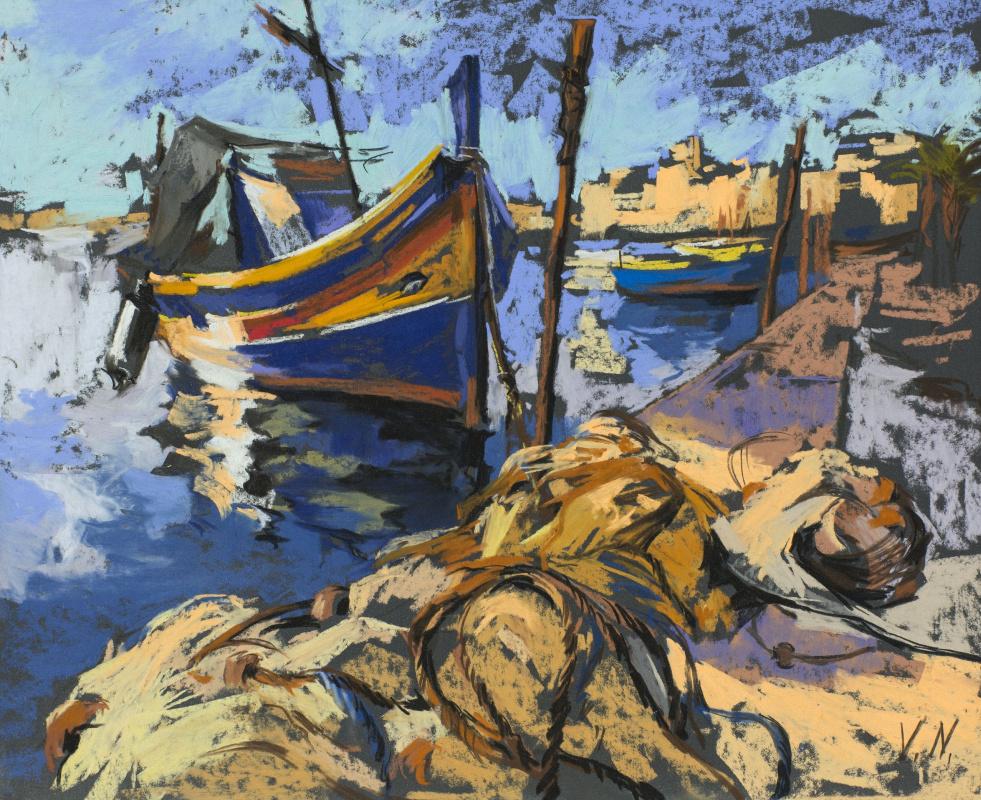 Valeria Gal'evna Nadezhdin. Fisherman's Wharf Malta, Marsaxlokk