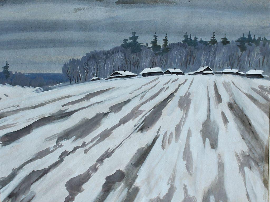 Vladimir Georgievich Gasilov. Early snow