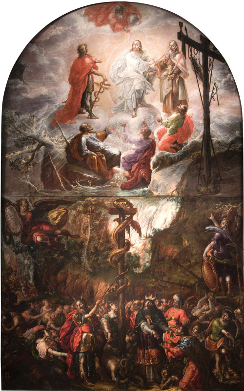 Кристобаль де Виллалпандо. Моисей и медный змей и Преображение Иисуса
