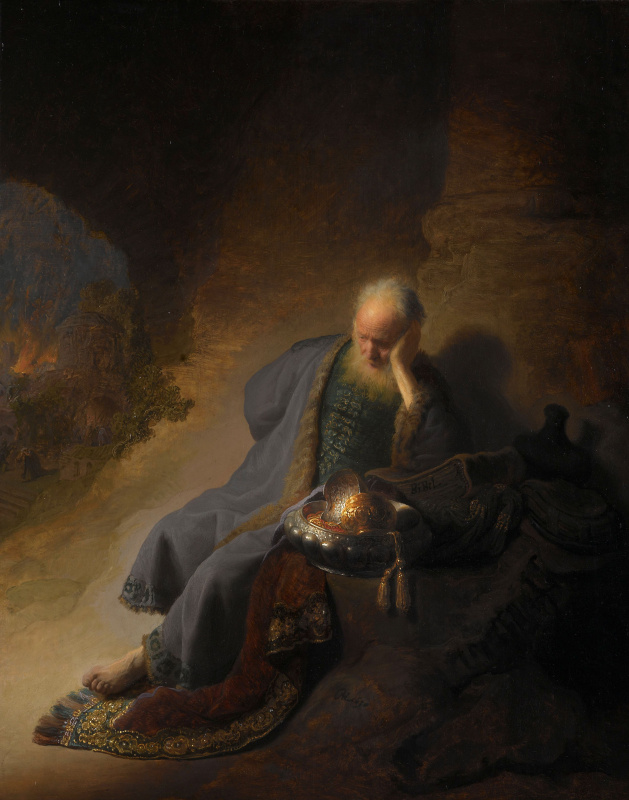 Рембрандт Харменс ван Рейн. Пророк Иеремия оплакивает разрушение Иерусалима