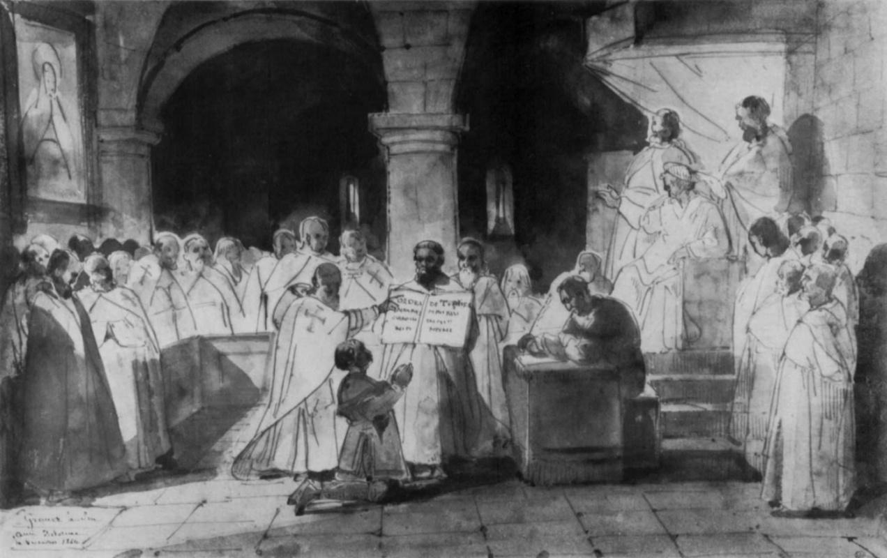Франсуа-Мариюс Гране. Прием Жака де Моле в орден храмовников, 1265