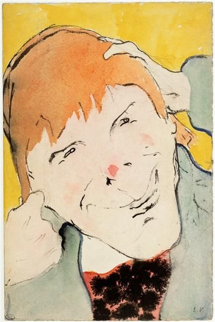 Jean Edouard Vuillard. A portrait of a character plays (actor Coquelin Kade)