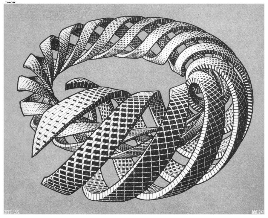Мауриц Корнелис Эшер. Магистральные спирали