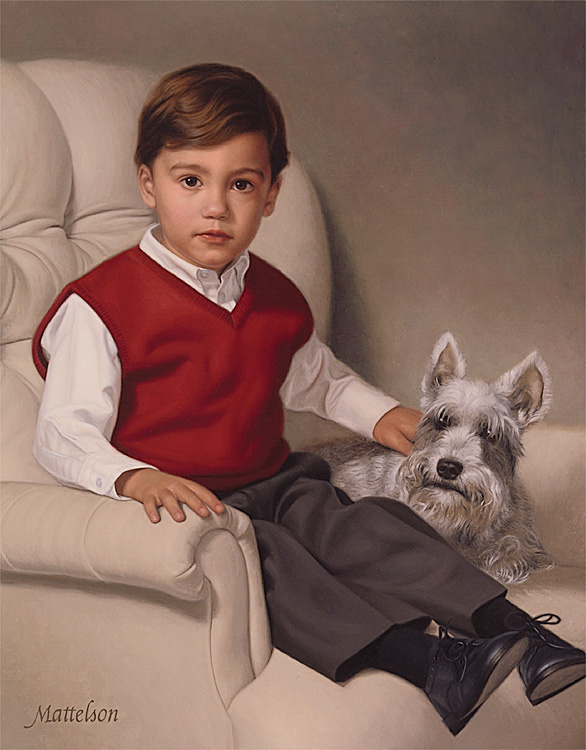 Марвин Маттелсон. Мальчик с собачкой