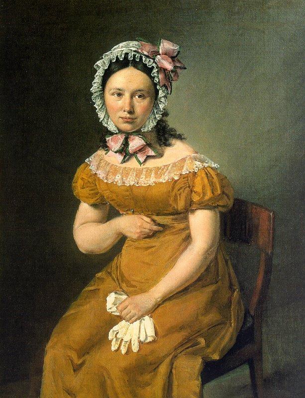 Женщина с белыми перчатками