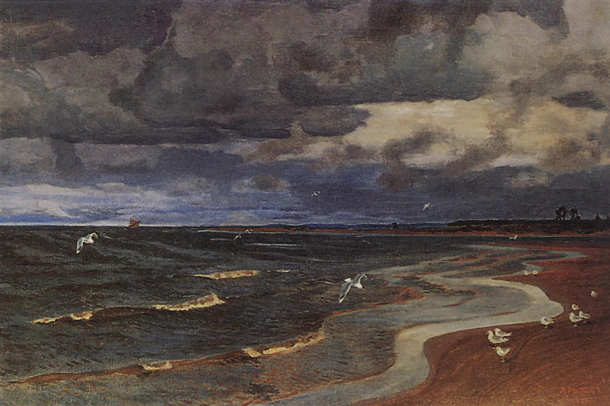 Arkady Alexandrovich Rylov. Seagulls on the Kama river