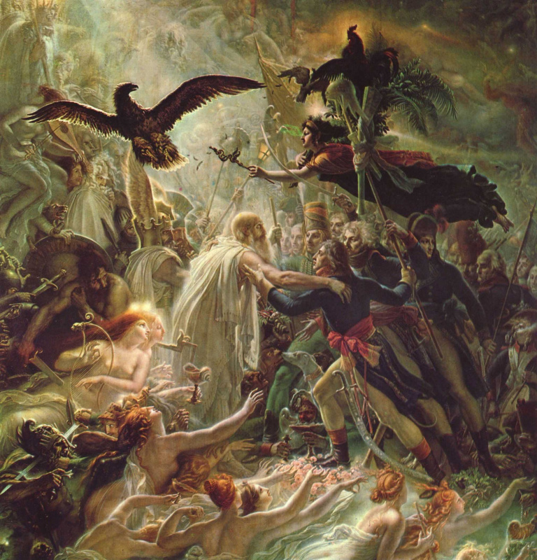 Anne-Louis Girode de Russi-Triosone. The apotheosis of the French heroes who died in the war for independence of the Motherland