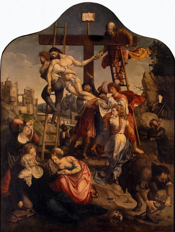 Ян Госсарт. Снятие со креста