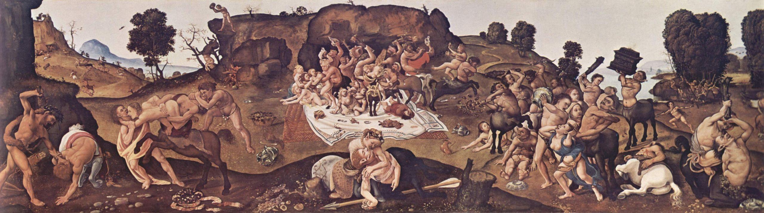 Пьеро ди Козимо. Битва кентавров и лапифов