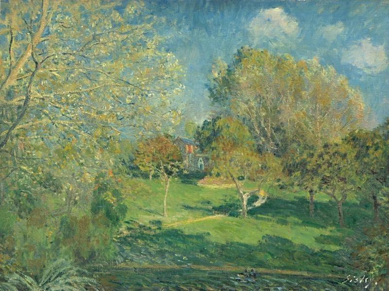 Alfred Sisley. The Garden of Hoschedé, Montgeron