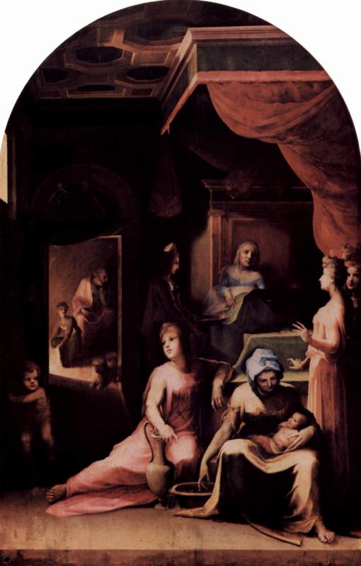 Domenico Beccafumi. The Nativity Of The Virgin
