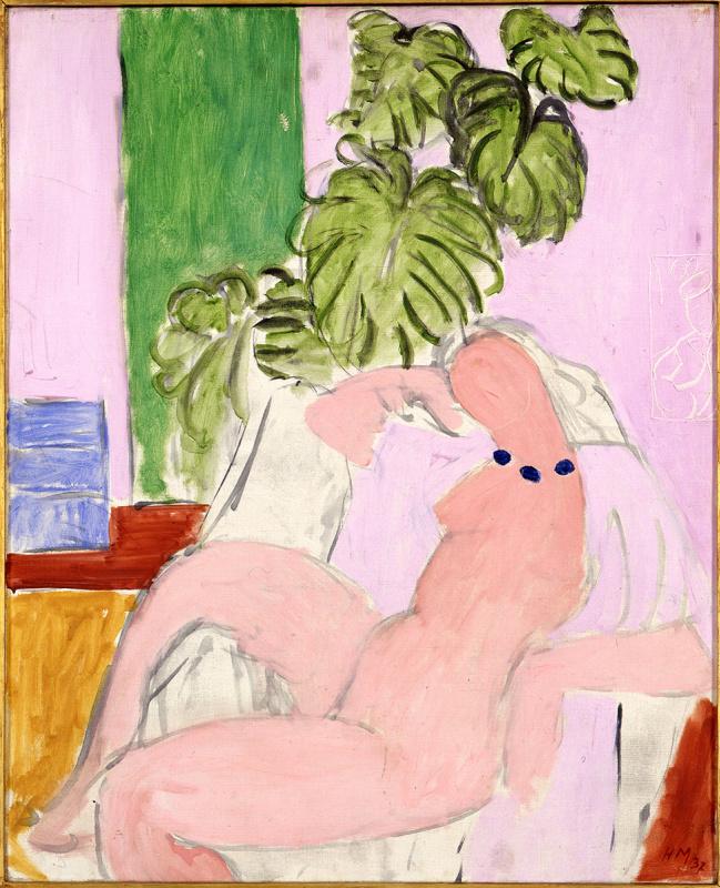 Анри Матисс. Обнаженная в кресле и листве