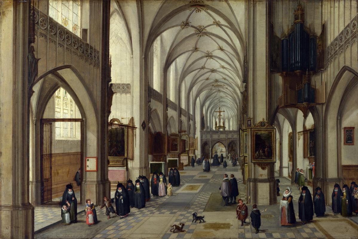 Ван Стеенвукк тх Ёунгеп анд Ян Бпуегхел тх Елдеп Хендрик. Интерьер готическая церковь, восточная сторона