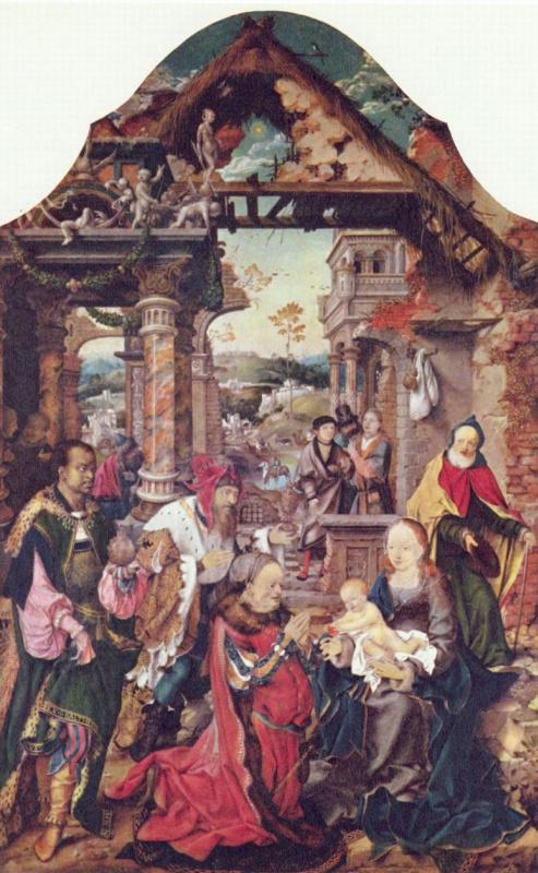 Йос ван Клеве. Поклонение волхвов