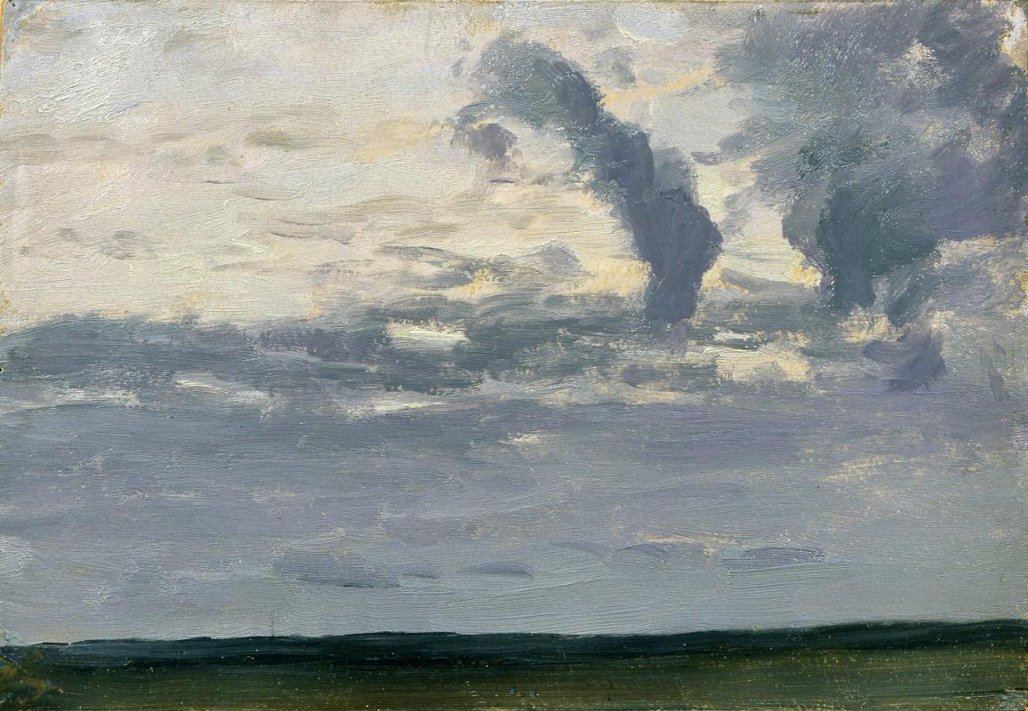 """Исаак Ильич Левитан. Облачное небо. Сумерки. Этюд для картины """"Над вечным покоем"""""""