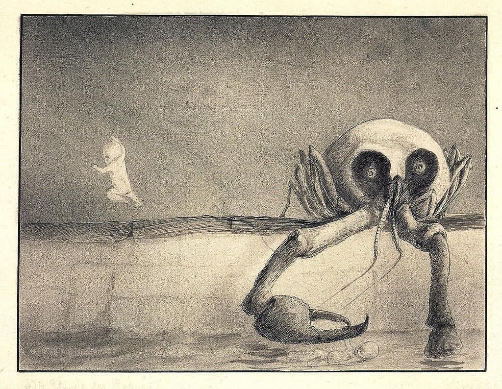 Alfred Cubin. Birth moment