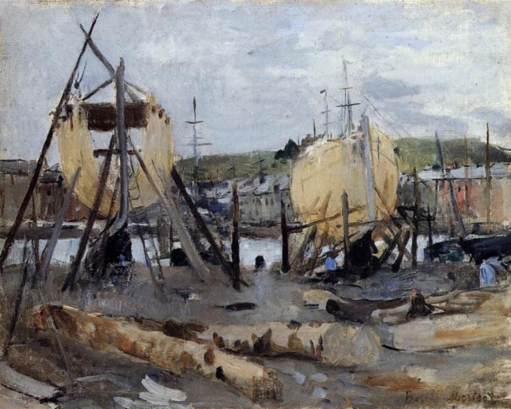 Берта Моризо. Строительство лодки