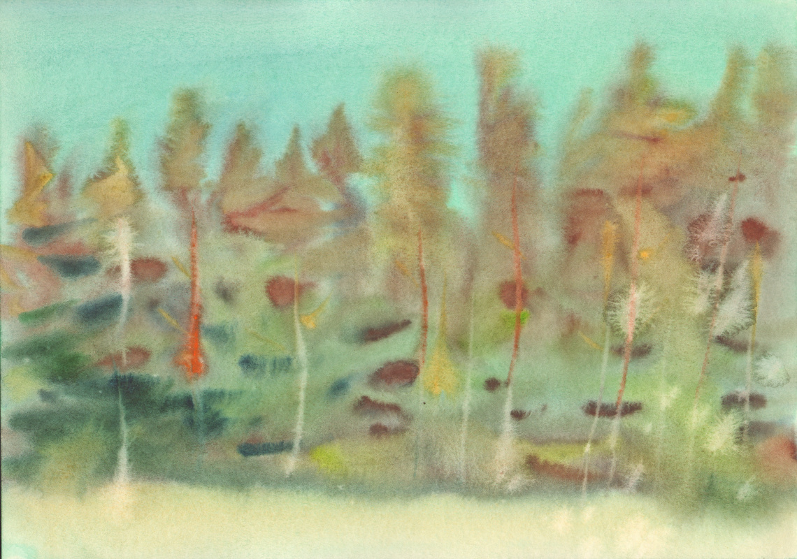 Вячеслав Крыжановский. Noon in a pine forest