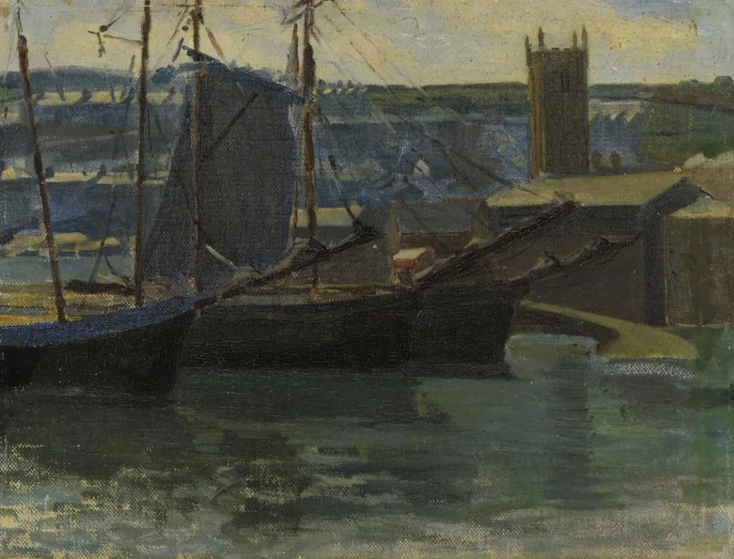 Helen Galloway McNicoll. In the harbor