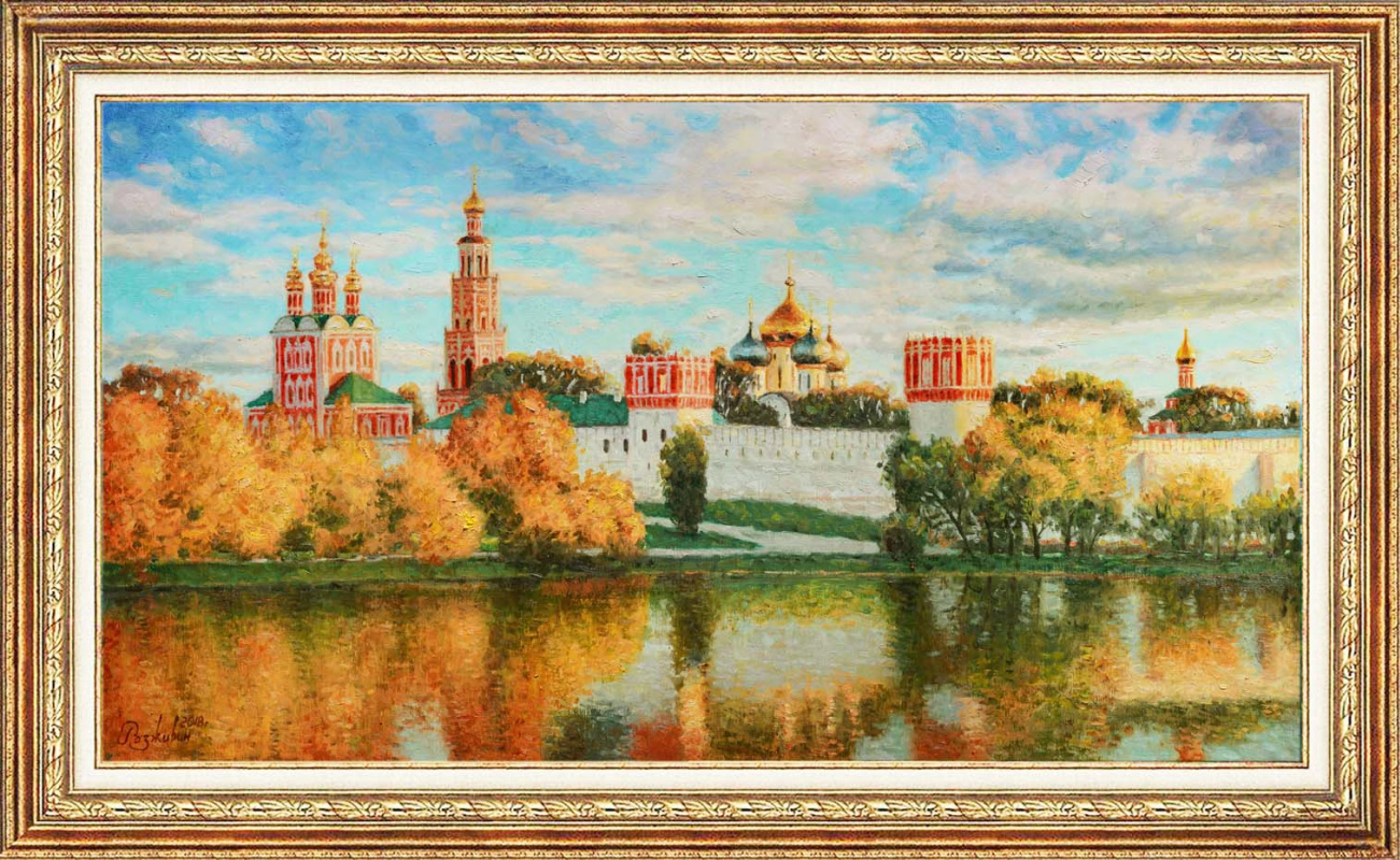 Igor Razzhivin. Autumn is reflected in the water