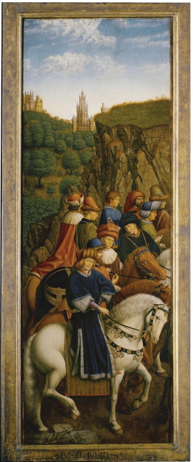 Ян ван Эйк. Гентский алтарь. Праведные судьи (фрагмент)