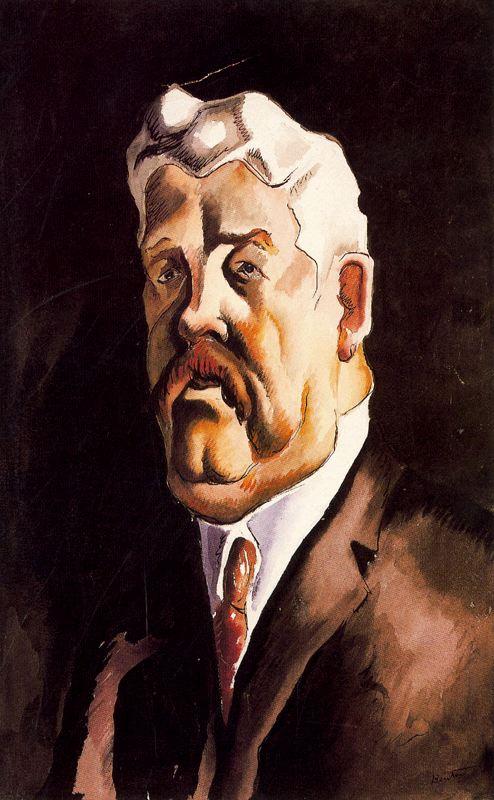 Томас Харт Бентон. Портрет седого мужчины